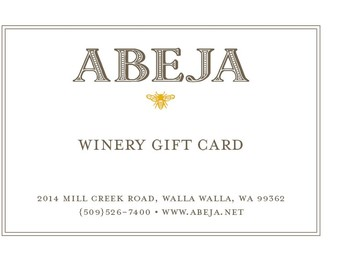 Wine Gift Card (virtual)